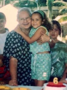 La abuelita Magdalena y yo 1998